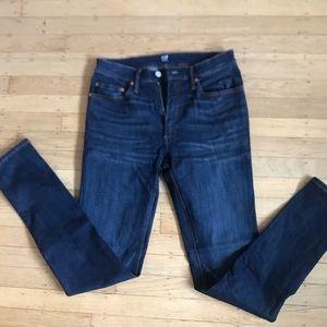 Gap men's NWOT blue super skinny 30 x 32 jeans